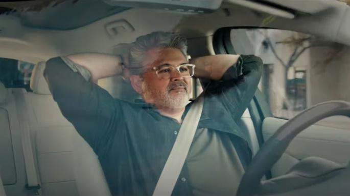 Self driving Nick Jonas ad