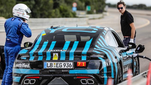 high taycan prototype nardò high speed track italy 2019 porsche ag copy